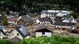 Saksalainen Schuldin kylä tuhoutui tulvissa lähes kokonaan.