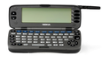 Nokian Communicator-puhelimia ilmestyi monessa sukupolvessa. Kuvassa Communicator 9000 vuodelta 1996.