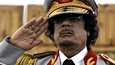 Libyan johtaja Muammar Gaddafi