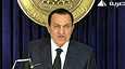 Hosni Mubarak piti puheen tiistaina.