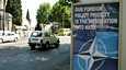 Georgian pääkaupungin Tbilisin kadun varsilla ei jää epäselväksi maan halu päästä Naton jäseneksi.