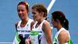 Britannian Beth Potter (keskellä) Rion olympialaisissa 2016.