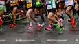 Bathin puolimaratonilla maaliskuussa näkyi paljon joustokenkiä.
