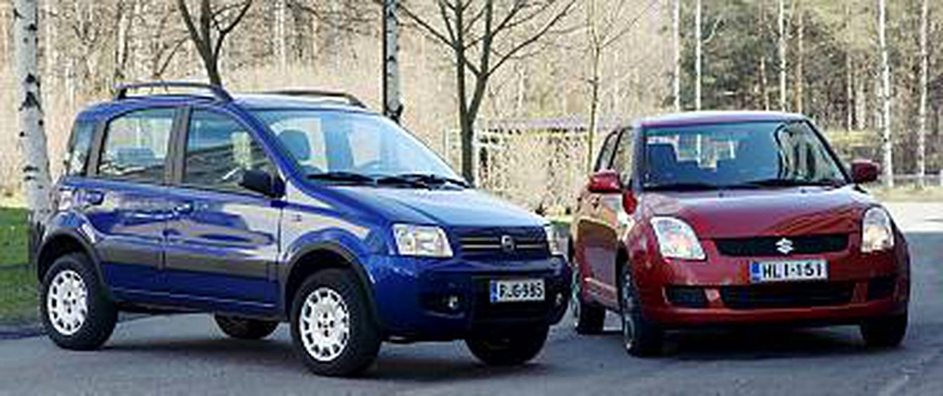 Fiat Panda 4x4 >> Fiat Panda 4x4 Suzuki Swift 4x4 Pienen Pienet Nelivedot