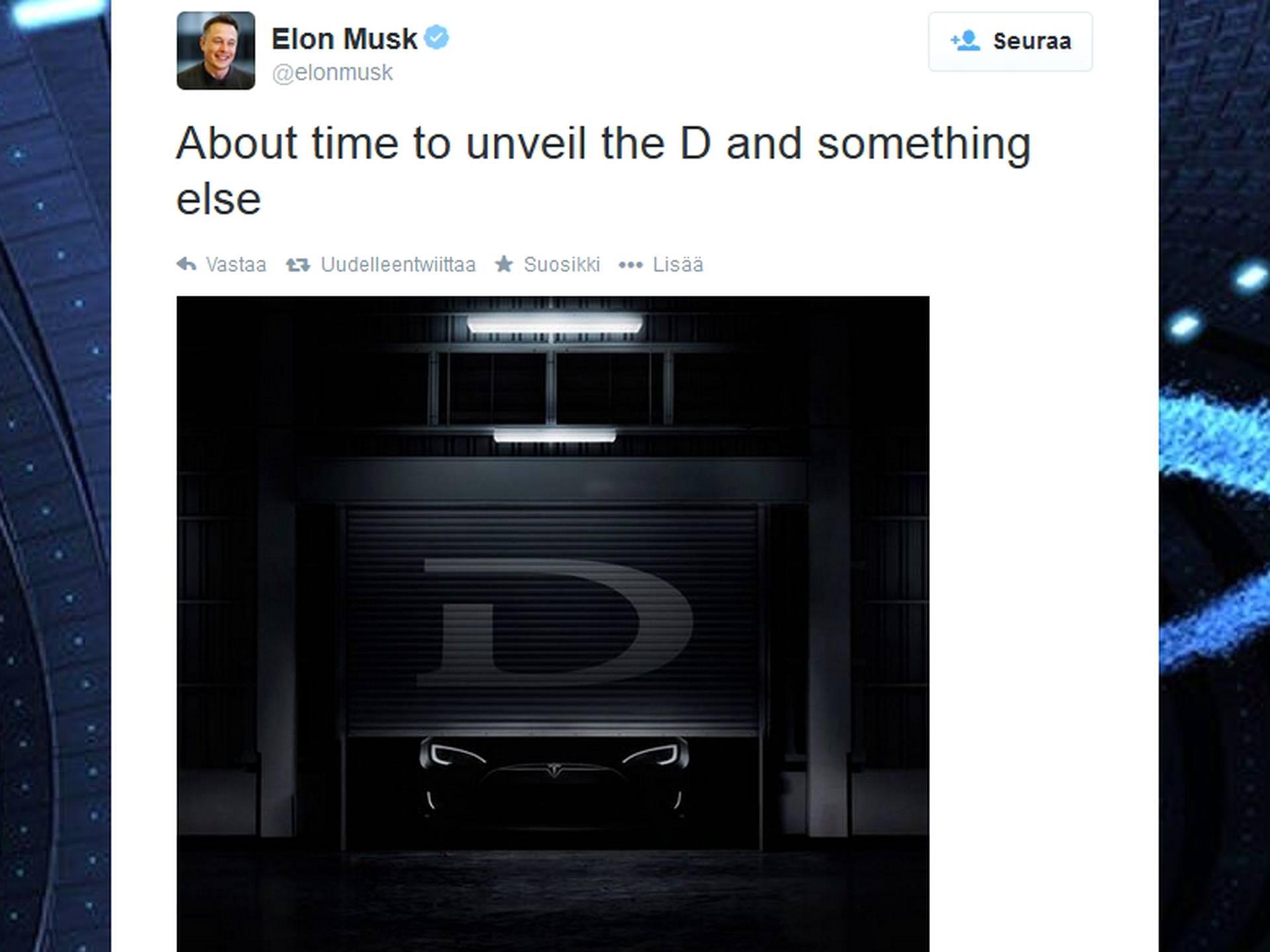 D And D Auto >> Elon Musk Saattaa Paljastaa Uuden Auton Taloussanomat