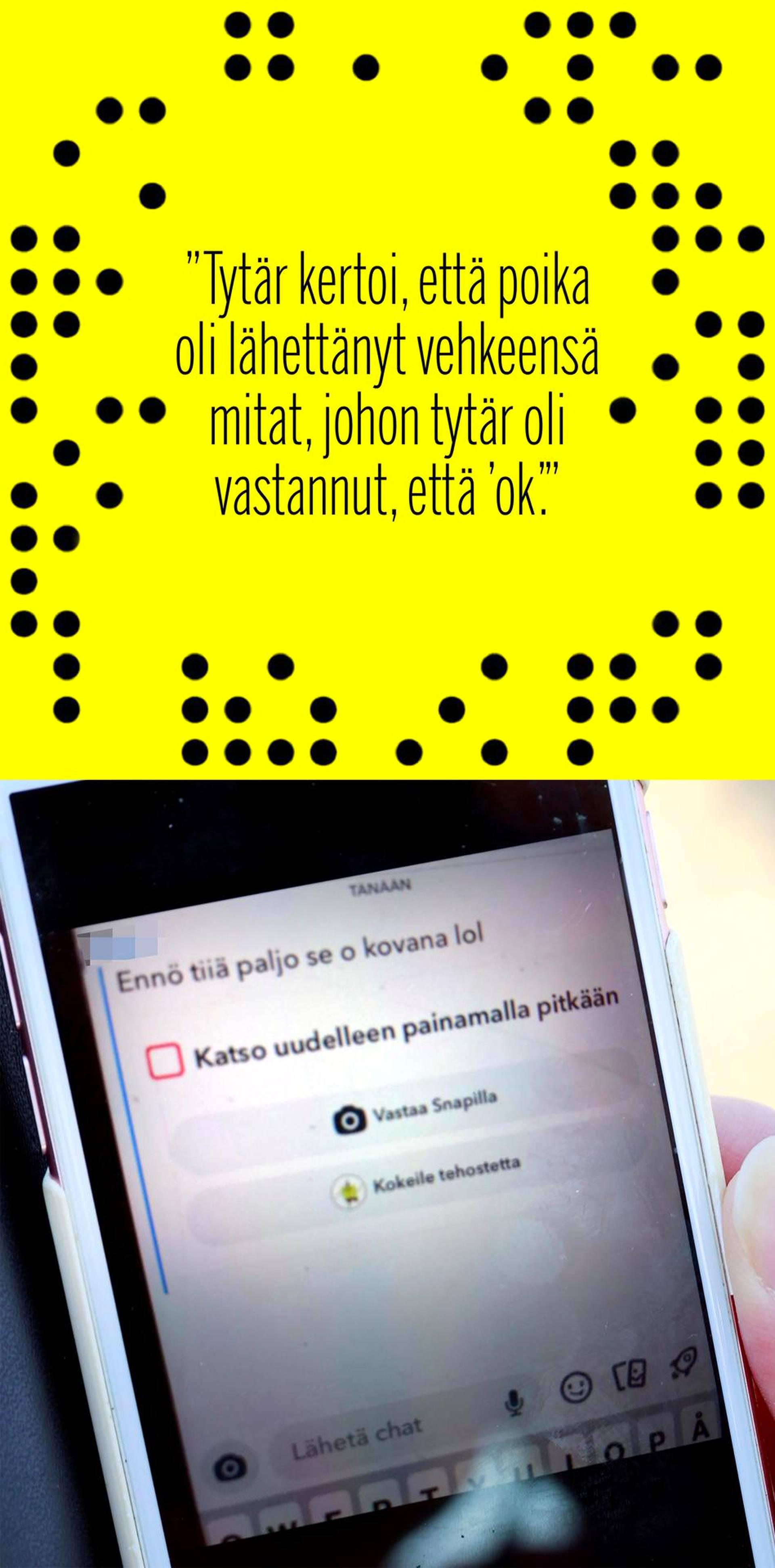 """Snapchatissa ja tietokonepelissä murrosikäinen poika lähetteli 11-vuotiaalle viestejä, joissa puhui """"nahkatikkarista"""" ja sukupuolielimensä koosta."""