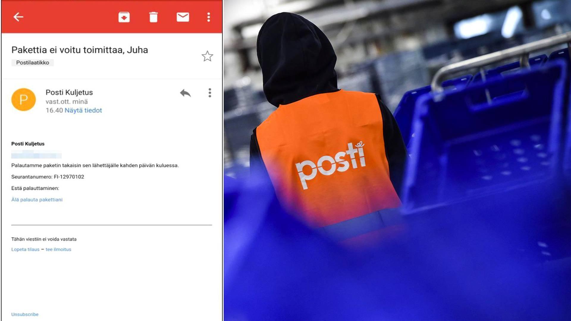postipaketti lähetys