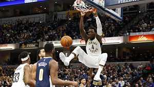 Indianan Oladipo mätti liki 50 pistettä NBA-parketilla