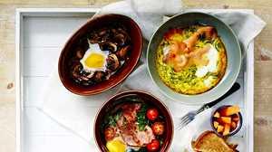 Kulhomunakas on täydellinen aamiainen – valitse omat lempitäytteesi ja lykkää uuniin