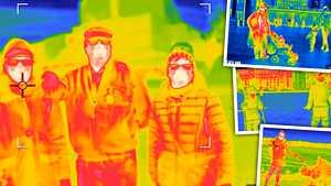 Lämpökameran kuvat paukkupakkasella paljastavat: Näin lämpö karkaa kehostasi