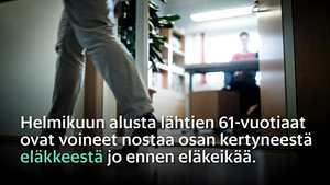 """Osa suomalaisista peruu jo varhennettuja eläkkeitään – """"Täysin uusi ilmiö"""""""