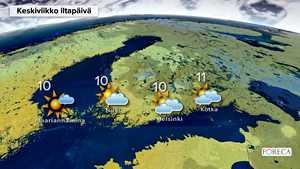 Lumi- ja räntäsateet tulevat pohjoiseen, myös etelään virtaa kylmää ilmaa