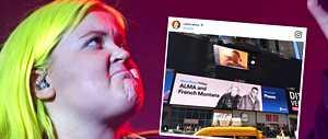 """Alman jättimäinen kuva komeilee Times Squarella – kollegoilta sataa äimistyneitä onnitteluita: """"Holy shit!"""""""