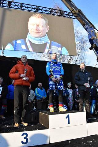 Levänen oli Norjassa nopein 4,5 kilometrin matkalla. Hänen aikansa oli 9 minuuttia 29 sekuntia.