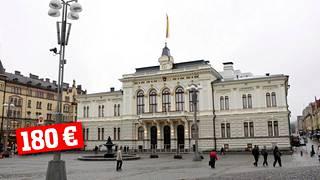Tampereella valtuuston kokouksesta maksettiin kuluvalla kaudella 180 euroa.