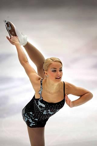 Kiira Korpi taitoluistelun SM-kisoissa Helsingissä vuonna 2005.
