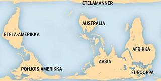 Down under -kartta näyttää maailmasta toisenlaisen mutta aivan yhtä oikean totuuden.