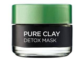 L'Oréal Pure Clay Purify -naamion musta hiili imee ihosta talia magneetinlailla. 9,90 €.