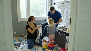 Miia, Jussi ja Ruu odottavat perheeseen toista lasta.