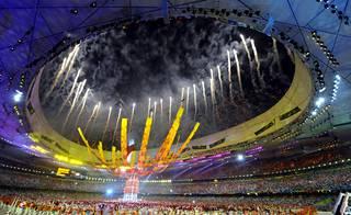 Kuva Pekingin olympialaisten päättäjäisistä.