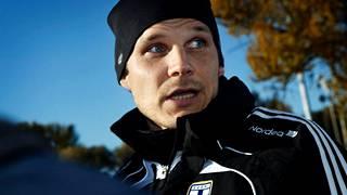 Markus Heikkinen maajoukkueen mukana vuonna 2010.