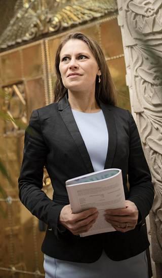 Pörssisäätiön toimitusjohtajan Sari Lounasmeri.