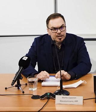 KRP:n rikoskomisario Marko Leponen on Vastaamon tutkinnajohtaja.