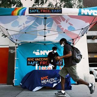 New Yorkissa mainostettiin koronavirusrokotetta.