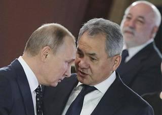 Vladimir Putin ja puolustusministeri Sergei Shoigu