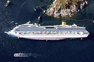 Sestini kuvasi yläilmoista myös Giglion saaren edustalla haaksirikkoutuneen Concordia-risteilyaluksen vuonna 2012.