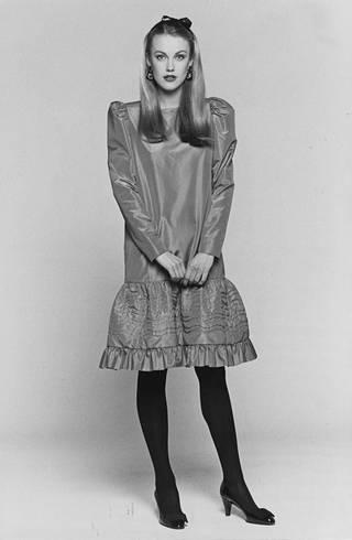 Christian Dior boutique-kokoelma vuodelta 1980.