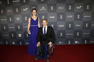 Sandra ja Leo-Pekka Tähti olivat näyttävä pari.