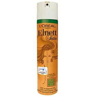 L'Oréal Paris'n Elnett Extra Strong hajusteeton hiuskiinne, 250 ml, 6,90 €.