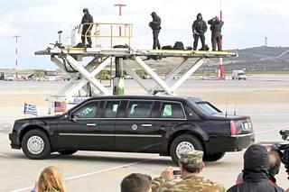 """Eläköityvä """"The Beast"""" nähtiin viimeistä kertaa presidentti Barack Obaman käytössä ulkomailla joulukuun puolivälissä Ateenassa."""