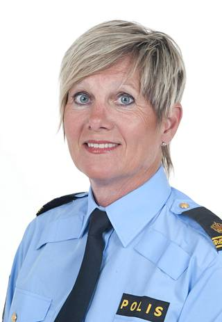 Göteborgin poliisin tiedottaja Ulla Brehm.