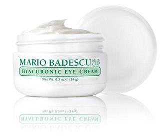 Mario Badescu Hyaluronic Eye Cream -silmänympärysvoide tehokosteuttaa ihon hyaluronihapon avulla, 17 €.
