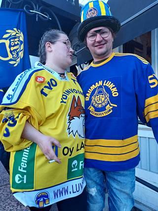 Salla Viitasalo ja Antti Hannonen toivovat, että heidän isänsä ehtii vielä kokea Lukon mestaruuden.
