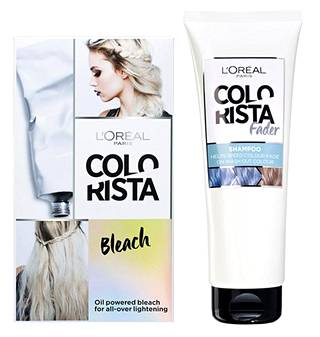 Colorista-sarjaan kuuluvat myös mm. Colorista Bleach- ja Colorista Fader -tuotteet. Bleach vaalentaa hiuksia intensiivisesti ennen pastellivärien käyttämistä, ja se sopii myös ruskeisiin hiuksiin. Fader auttaa puolestaan poistamaan Washout-hiusvärin nopeammin kuin tavallinen sampoo. Colorista Bleach 10,90 €, Colorista Fader 9,90 €.