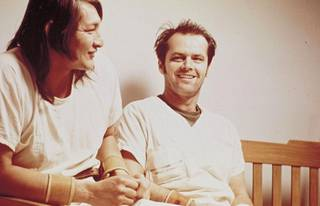 Jack Nicholson elokuvassa Yksi lensi yli käenpesän.