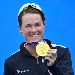 Flora Duffy voitti kultaa.