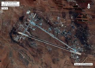 Yhdysvallat iski Shayratin lentotukikohtaan.