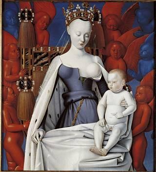 Tätä maalausta Agnés Sorelista on pidetty ensimmäisenä teoksena, jossa rinta on kuvattu selkeästi eroottisella tavalla.