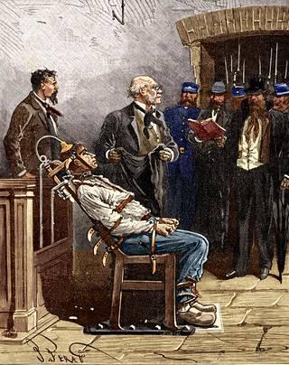 Edison näki paljon vaivaa, että hänen tasasähkönsä kanssa kilpaileva vaihtovirta otettiin käyttöön sähkötuolissa. Ensimmäinen teloitus oli kauhistuttava.