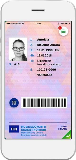 Mobiiliajokortti tulee iPhone- ja Android-puhelimille.