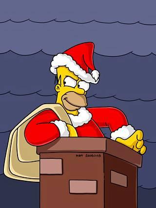 Homer nähtiin joulupukkina Simpsoneiden kaudella 15 ilmestyneessä jaksossa Homer-sedän parannus.