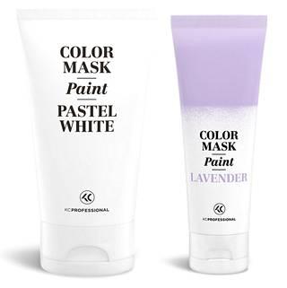 KC Professional Color Mask Paint sävyvalikoimassa on 11 sävyä. Sävy kestää hiuksissa 5–30 pesukertaa riippuen hiusten väristä, huokoisuudesta sekä käytetystä sävystä. Halutessasi suoravärin shokkisävystä saa vaaleamman tai pastellisävyisen lisäämällä suoraväriä Pastel White -laveeraajan joukkoon. Pastel White 14,50 €, suoraväri 14,50 €.