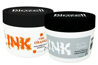 Biozell Professional Color Mask Ink -suoravärejä löytyy viidessä eri sävyssä ja ne ovat hajusteettomia ja ammoniakittomia. Suoravärit on tarkoitettu vaalennettuihin hiuksiin. Pastellisävy syntyy sekoittamalla shokkiväriä Neutral Toner -tuotteeseen. Sävy pysyy hiuksissa 5–30 pesua hiuslaadusta ja pohjaväristä riippuen. Suoraväri 10,90 € ja Neutral Toner 10,90 €.