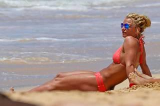 Spears on kohottanut lihaskuntoaan rankalla salitreenillä.