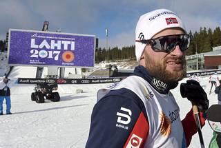 Norjan väriläiskä Petter Northug puolustaa Lahdessa kahden vuoden takaista sprintin MM-kultaa.