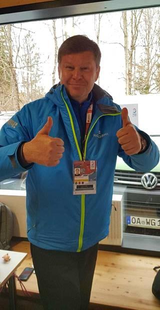 Dmitri Gubernijev Oberstdorfin MM-kisoissa 2021.